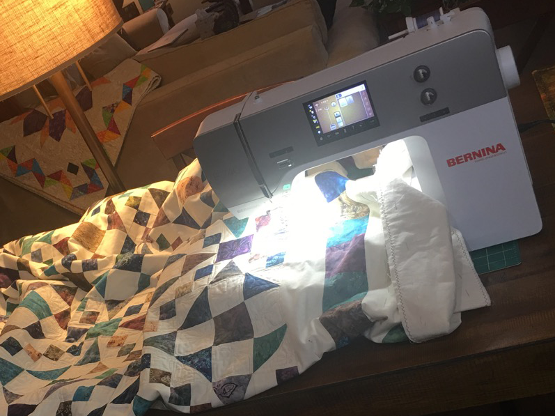 Machine Quilting on a Bernina 740